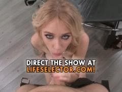 Une blonde prête à avaler une grosse queue - MESVIP