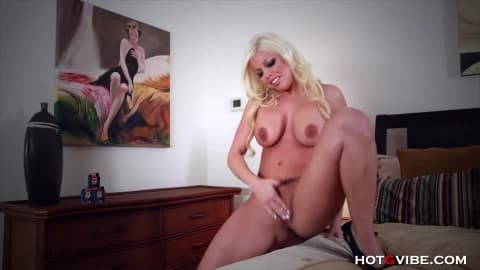 Squealing Masturbating Blond Barbie