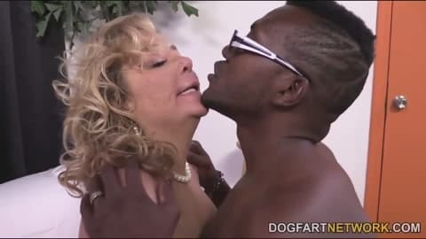 Karen Summer in her first ever interracial porn video
