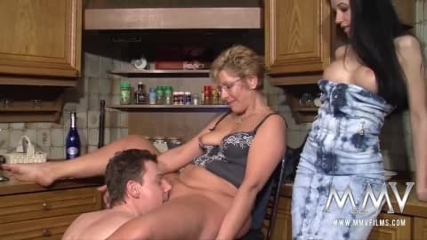 MMV FILMS Busty Mature Amateur Threesome- Meli Deluxe
