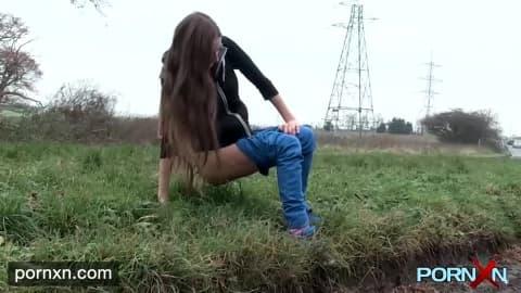 PORNXN Horny Skinny Leyla goes in public- Leyla
