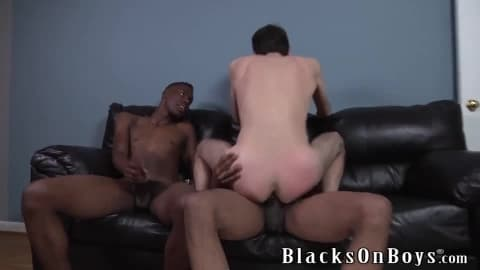 Chris Kingston Gets Fucked By Two Black Guys