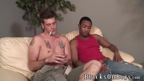 Chase Evans Is Hungry For Some Black Cock