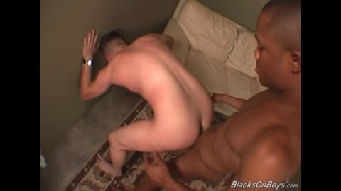 Shy white guy gets assbanged by a hung black dude