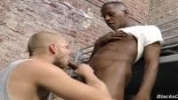 Interracial gay sex in the prison