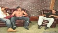 Black men sharing a latino dude
