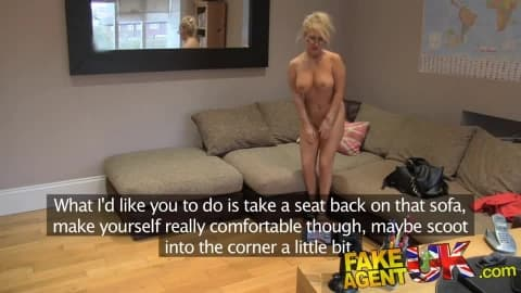 [Fake Agent UK] Massive Facial for Hot Blonde MILF HD Porn