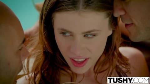 TUSHY First Double Penetration For Stunning Anya Olsen