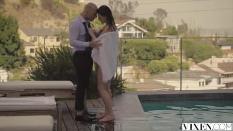 VIXEN Hot Babysitter Leah Gotti Gets Anal Payment