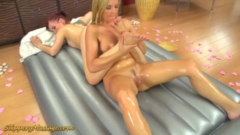 wild lesbian slippery nuru massage