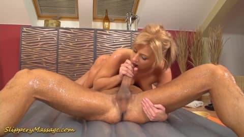 young couple trys slippery nuru massage sex