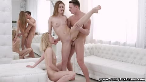 Young Sex Parties – Hot anal threesome