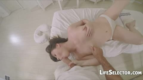Small tits and some oil – Alison Rey